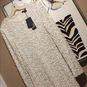 White sequin dress by Rachel Zoe